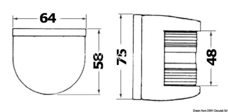 Osculati Utility 85 Stainless Steel 225 Degrees Bow White Navigation Light 12V